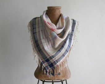 Indian Pastel Woven Scarf