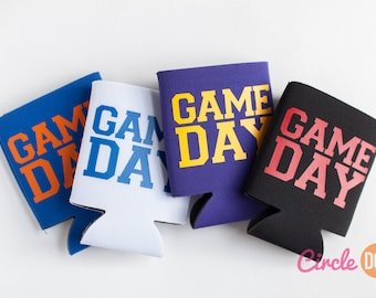 Game Day Tailgate Can KOOZIE® - Personalized Beer/Soda Can coozie for football sports fan, tailgating, gift for dad, bro, fraternity