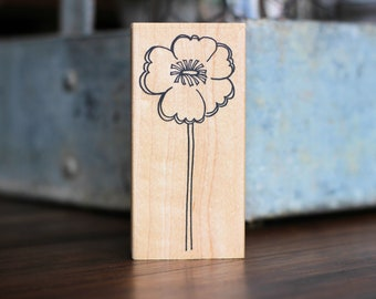 Large Outline Flower Rubber Stamp from Savvy Stamps.