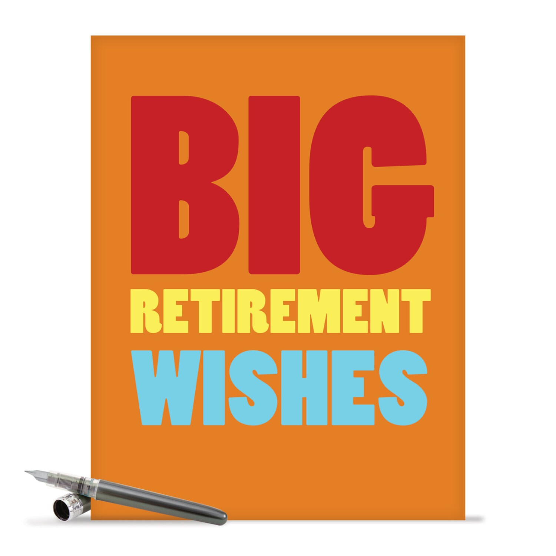 J2734rtg jumbo funny retirement card big retirement wishes description cards inside greeting big retirement wishes kristyandbryce Images