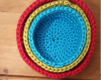 Crochet Nesting Baskets, Storage Baskets