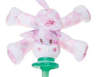 Nookums Paci-Plushies Pink Giraffe - Universal Pacifier Holder