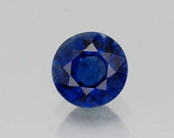 Round Faceted Genuine (Natural) Blue Sapphire 2mm to 5mm. 811-311