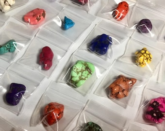 40! Colorful Chunky Nugget Focal Beads Exact Lot from Collection FloridaBeadShop