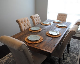 Rustic X table (local delivery only dfw)