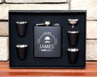 15 flasks gift set groomsmen gifts personalized flasks
