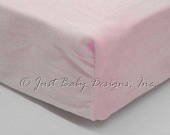 Fitted Crib Sheet - Minky Smooth Light Pink