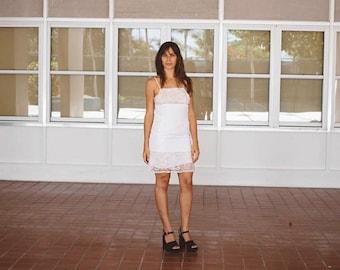 Vintage white shift dress