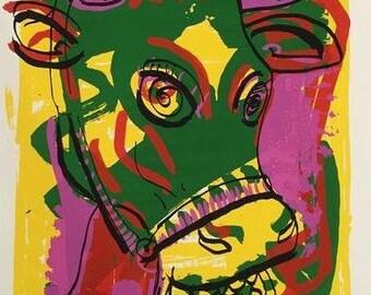 Peter Klashorst - Lovely Cow - signed silkscreen