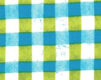 A Stitch In Color - By Malka Dubrawsky _ Foror Moda Fabrics - Turquoise Ocean - Pear Cross Bars (23206 16 ) - 1 Yard - 7.50 Dollars