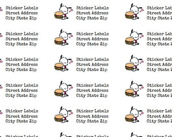 Sheet of 30 personalized address labels