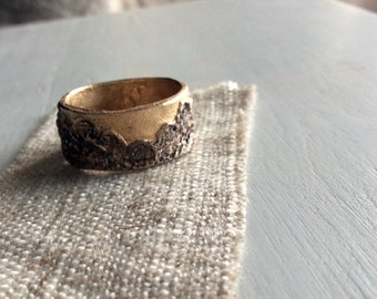 bronze lace ring