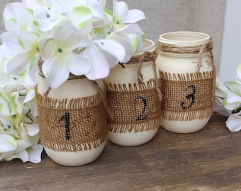 Perfect Country Wedding Table Decorations Rustic Table Numbers Burlap Wedding Decor  Rustic Wedding Table Numbers Burlap Mason