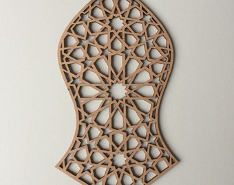 Timber laser cut Na'lain 28x15cm