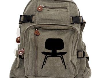 Backpack, Canvas Backpack, Eames Chair, Rucksack, Small Backpack, Diaper Bag, Hipster Backpack, Mid Century Modern, Men's Backpack