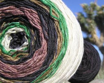 Sport Weight Yarn - Custom Dyed Shawl Yarn - Raven on the Ridge