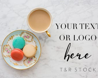 Styled Stock Photography, Flat Lay Background, Flat Lay Image, Flat Lay Desktop, Website Stock Photos, Flat Lay Macarons, Coffee Photo Stock