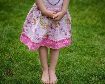 Pretty Pink  Mermaid Skirt ( 18 mos, 24 mos, 2T, 3T, 4T, 5, 6, 7)