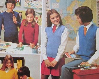 Vintage Patons School Days Knitting Pattern Book