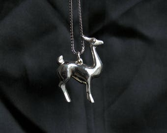 Llama Necklace in Sterling Silver / gifts for Llama lover / llama pendant / llama jewelry / llama gifts / gifts for her