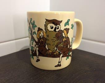 Brownie Guide Cup, Brownies Mug, Girl Guides, Kiln Craft Mug, Coffee Mug, English Vintage, Brown Owl, Brownie Law, Motto