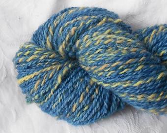 Sapphire/yellow Handspun Yarn
