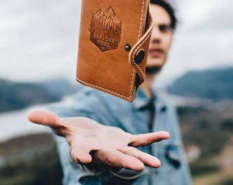 50% OFF SALE!! Refillable Leather Journal...Full Grain Leather Notebook -- Explore More  -- Handmade in Portland, OR