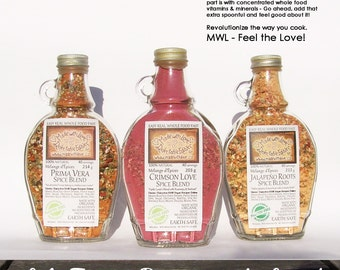 Herb and Spice - Spice Blends Organic Herb Spice & Veggie Blends - Organic Pasta Sauce Mix - Dip Mix - BBQ Grill Rub - Salad Dressing Mix