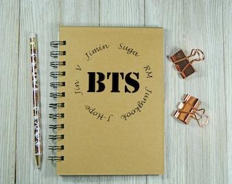 BTS (Bangtan Boys) Inspired Notebook/Journal