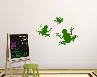 Set Of Frog - Nursery and Kid's Room Animals Wall Decals