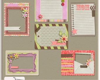 Great Moms Digital Scrapbook Journal Cards and Frames
