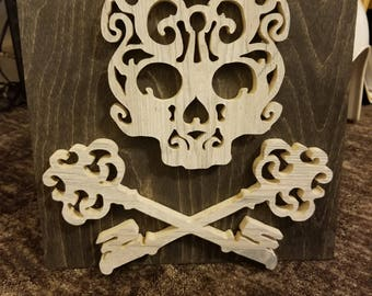 Skull and cross keys