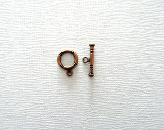 Copper 1 toggle clasp for bracelet or necklace