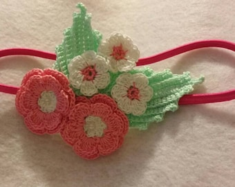 Irish rose flowers and leaves headband