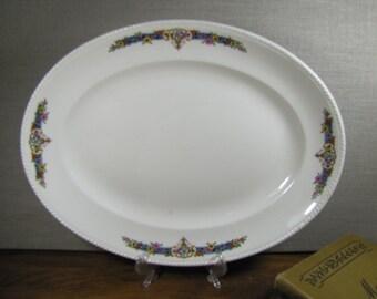 """Vintage Crown Ivory Serving Platter - 13"""""""