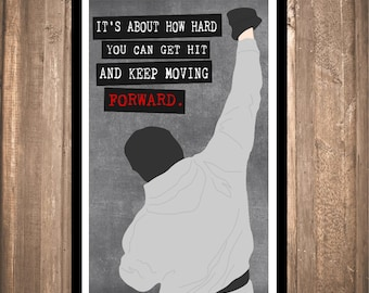 """INSTANT DOWNLOAD - Rocky """"Forward"""" Print"""