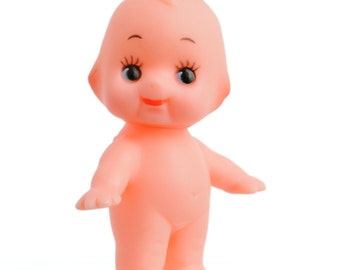2 inch Miniature Cute Kewpie Doll Baby Cupie Vintage Antique Cameo Composition Figurine Ornament Rubber Vinyl Figure Made Japan Original Toy