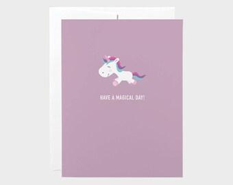 Unicorn Card | Birthday Card | Kids Birthday Card | Funny Kids Birthday Card | Funny Kids Card | Funny Birthday Card