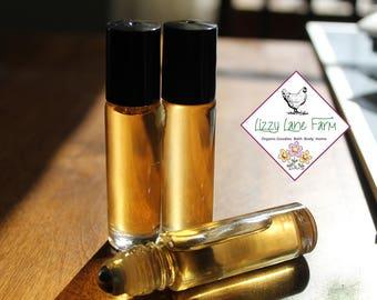 Favorite Ambry- old wood, lavender, leather books, geranium lavender| | Mens Fragrance | Cologne | 1/3 oz Roll on | Personal Perfume
