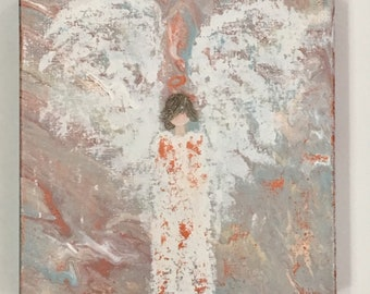 Angel Painting, abstract angel art, angel art, guardian angel
