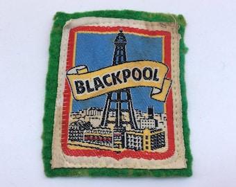 Vintage 1970s era Blackpool Souvenir Fabric Sew on Patch