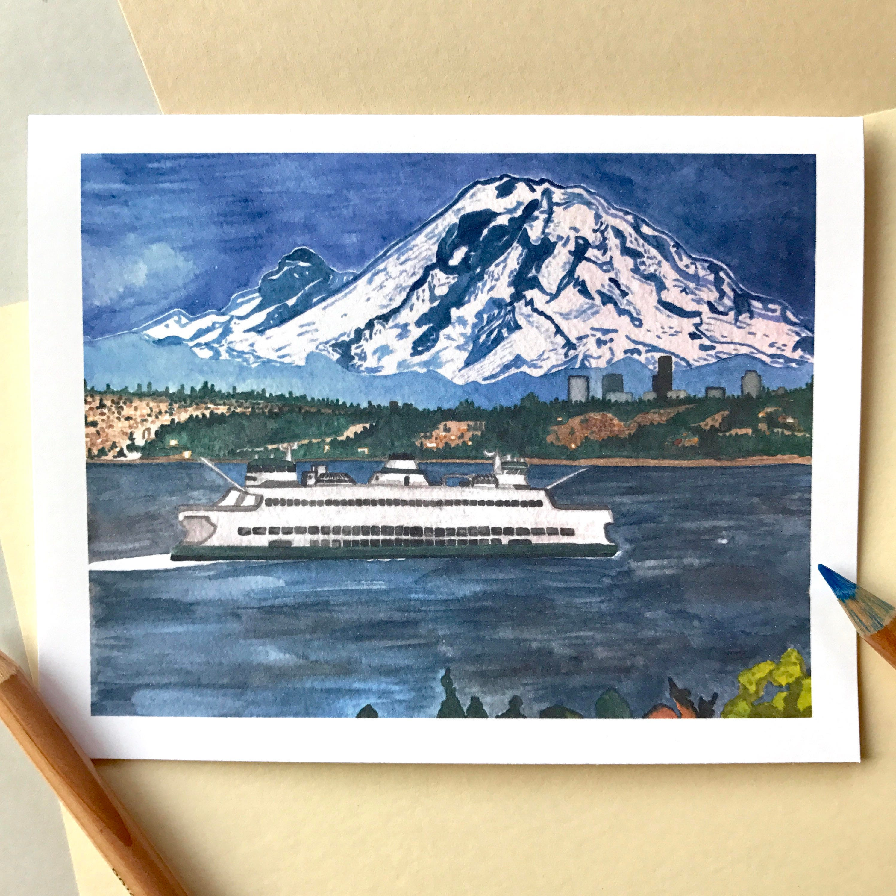 Seattle ferry cards mount rainier scenic cards scenic zoom kristyandbryce Images