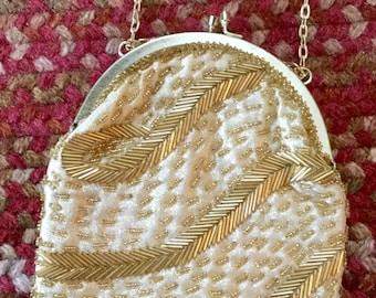 Fine arts Ny Gold Beaded Evening Bag