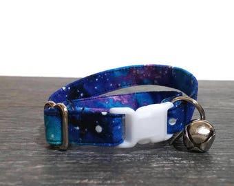 Galaxy Cat Collars, Galaxy Print Collar, Male  or Girl Cat Collars, Space Cat Collars, Pet Supplies, Pet Accessories, Breakaway Cat Collars
