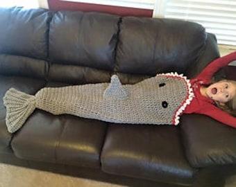 Crochet Shark Tail Blanket PATTERN