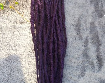 Ready To Ship 13 Deep Plum Purple Double Ended Synthetic Dreads Dreadlocks Hair Extensions Synth Locs DE Extensions Goddess