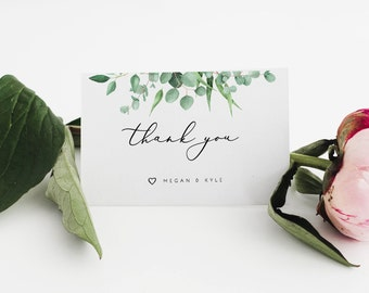 Wedding Thank You Cards Template Printable Thank You Card Wedding Thank You Cards Wedding Favors Thank You Tags Wedding Thank You Notes