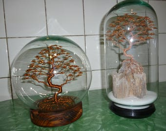 Wire Tree sculpture-tree sculpture in copper wire