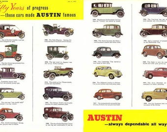 AD31 Vintage Austin Motor Car Advertising Advertisment Poster Re-Print Wall Decor A3/A4
