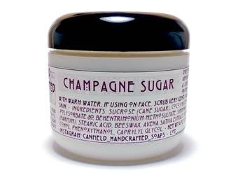 Champagne Sugar - Emulsified (Non Greasy) Sugar Scrub - 4 oz